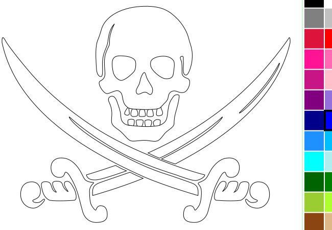 Coloriage pirate